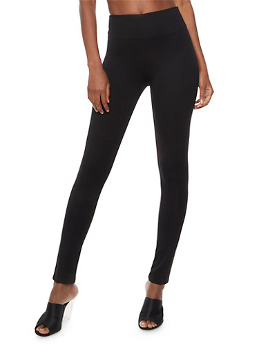 High Waisted Ponte Dress Pants,BLACK,large
