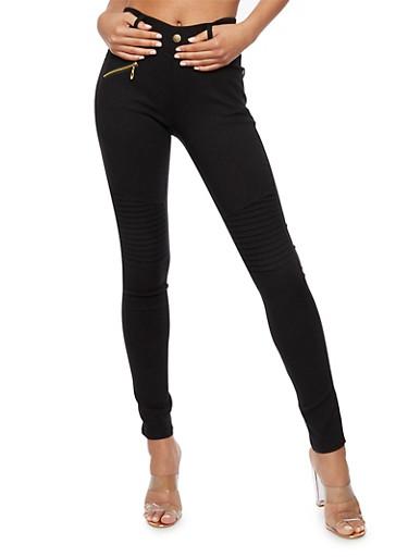 Stretch Moto Pants,BLACK,large