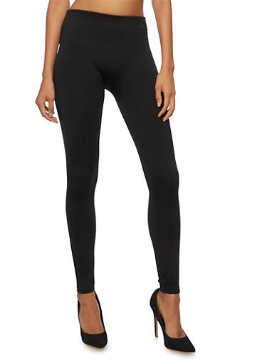 Leggings with Geometric Knit,BLACK,large