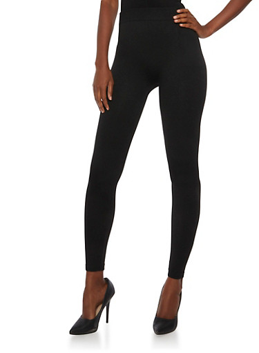 Solid Black Leggings,BLACK,large