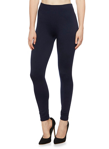 Leggings with Fleece Lining,NAVY,large