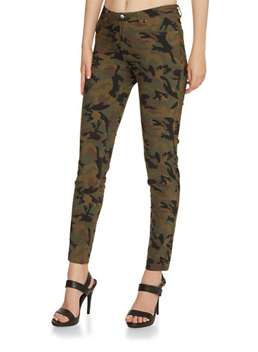 Camo Skinny Pants,CAMOUFLAGE,large