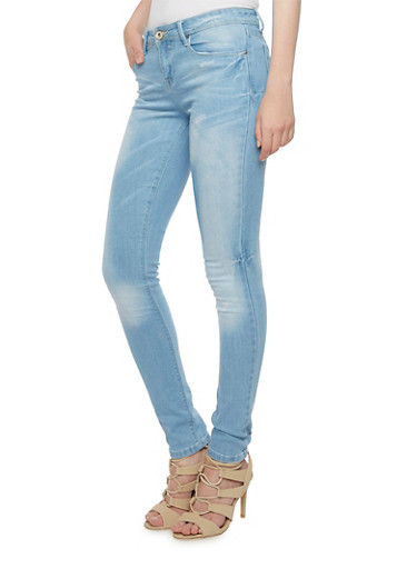 Skinny Jeans in Faded Wash,LIGHT WASH,large