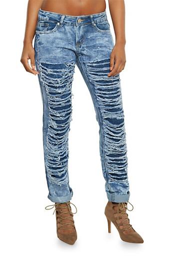 Shredded Skinny Jeans,RINSE,large