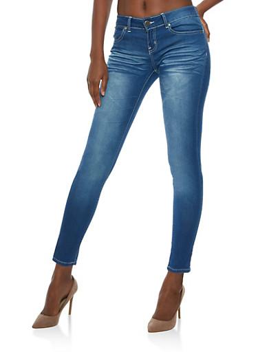 VIP Skinny Jeans,MEDIUM WASH,large