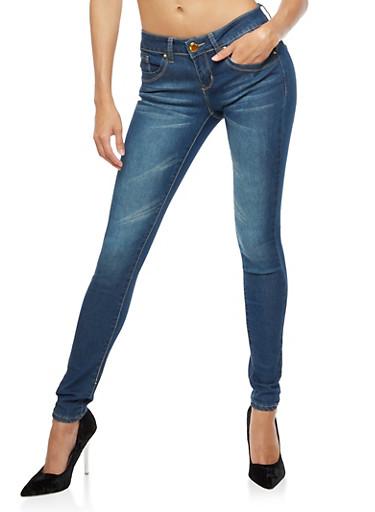 VIP Skinny Push Up Jeans,DARK WASH,large