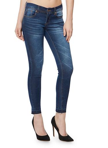Released Hem Skinny Jeans,MEDIUM WASH,large