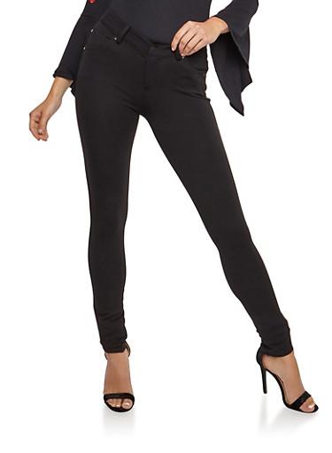 Ponte Skinny Pants,BLACK,large