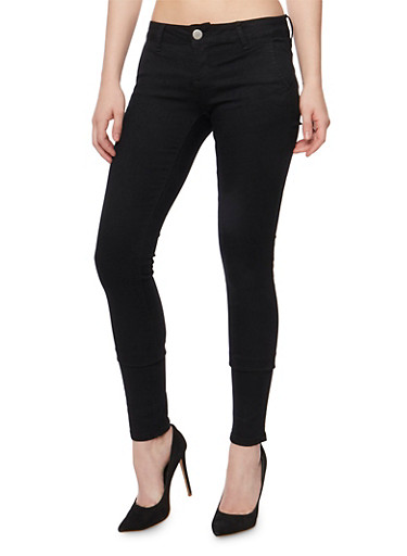 VIP Solid Skinny Jeans,BLACK,large