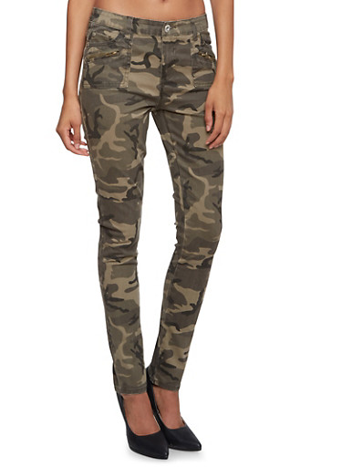 Highway Jeans Twill Skinny Pants,CAMOUFLAGE,large