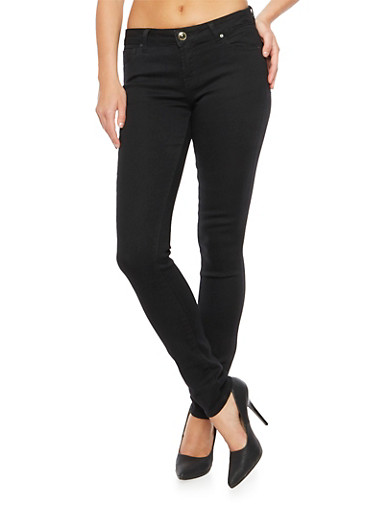WAX Jeans Skinny Fit with Stretch,BLACK,large