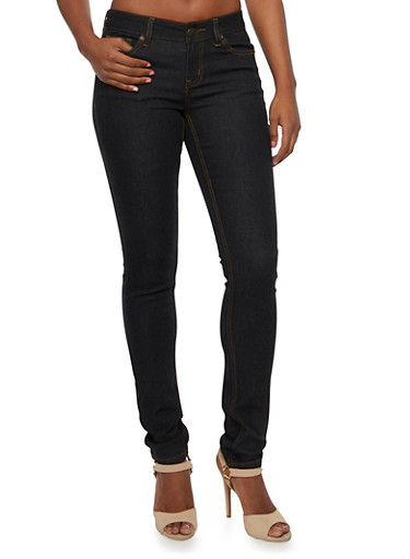 WAX Jeans Five Pocket Skinny Jeans,BLACK,large