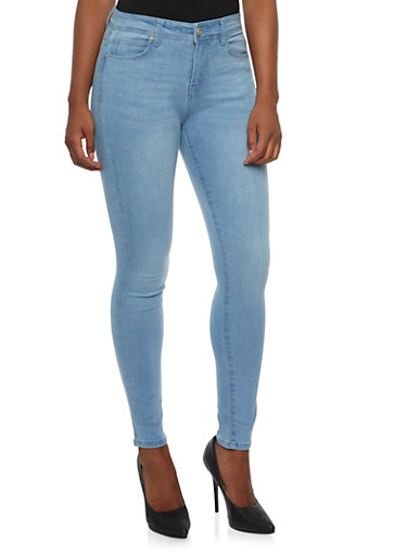 WAX Classic Skinny Jeans,LIGHT WASH,large