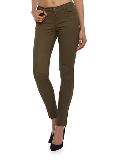 WAX Jean Five Pocket Skinny Pants,OLIVE,large
