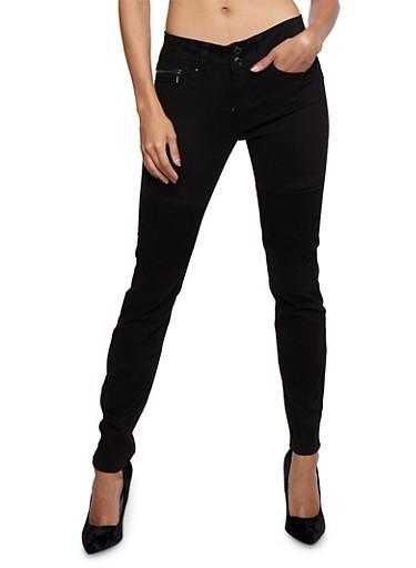 WAX Moto Skinny Jeans,BLACK,large