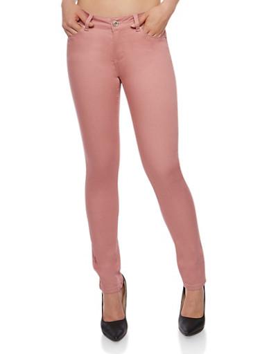 WAX Push Up Skinny Jeans,MAUVE,large