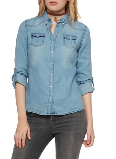 Highway Jeans Chambray Shirt,MEDIUM WASH,large