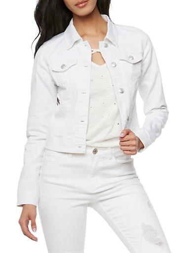WAX Jean Jacket,WHITE,large