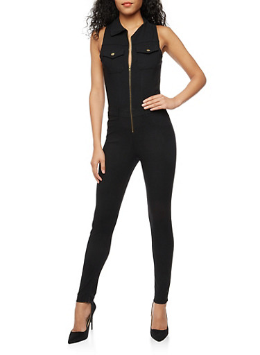 Sleeveless Zip Front Jumpsuit at Rainbow Shops in Daytona Beach, FL | Tuggl