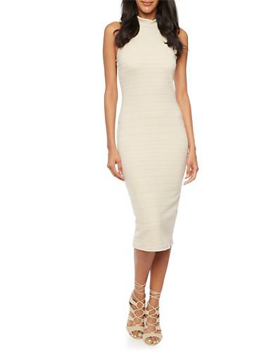 Bandage Midi Dress,TOWN TAUPE,large