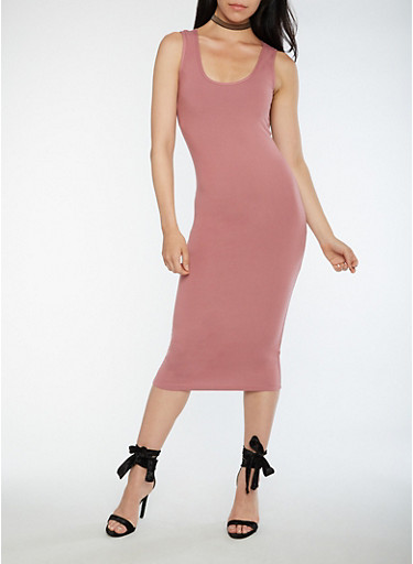 Soft Knit Midi Bodycon Dress,MESA ROSE,large