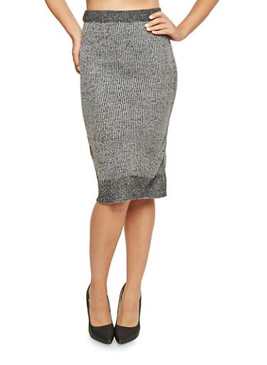 Knit Midi Skirt,BLACK,large