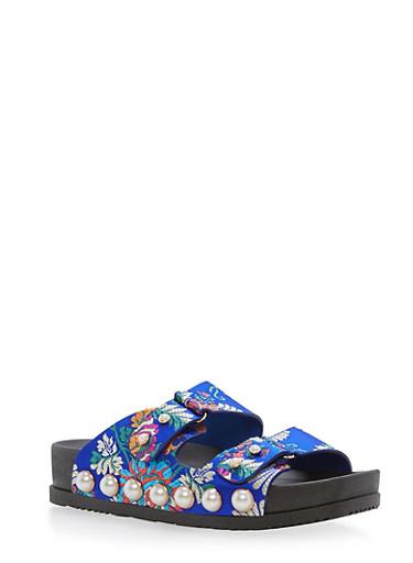 Faux Pearls Double Strap Slide Sandal at Rainbow Shops in Daytona Beach, FL | Tuggl