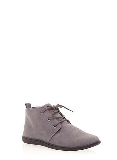 Brushed Suede Desert Boots,GRAY,large