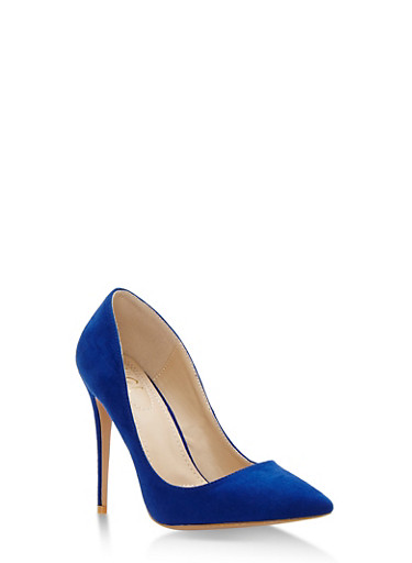 Pointed Toe High Heel Pumps,ROYAL BLUE,large