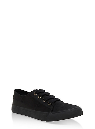 Satin Lace Up Sneakers,BLACK SATIN,large