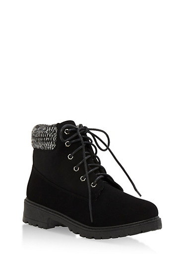 Work Boots with Padded Collar,BLACK NUBUCK,large
