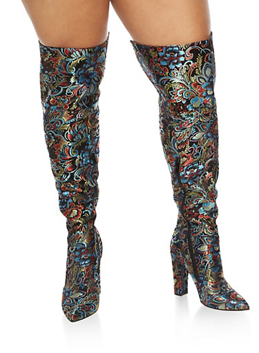 Thigh High Pointed Toe High Heel Boots at Rainbow Shops in Daytona Beach, FL | Tuggl