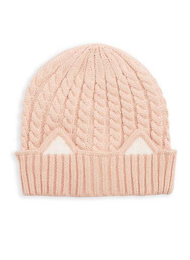Cable Knit Cat Ear Beanie at Rainbow Shops in Jacksonville, FL | Tuggl