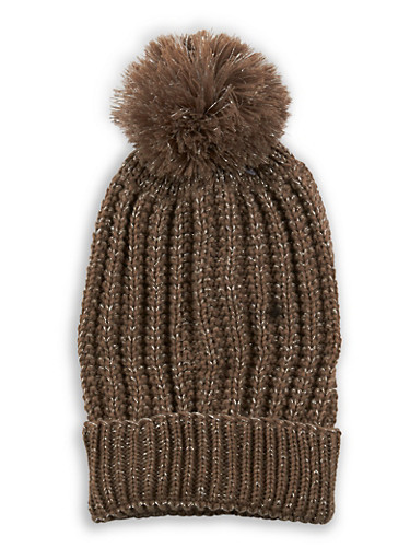 Pom Pom Heavy Knit Beanie at Rainbow Shops in Jacksonville, FL | Tuggl