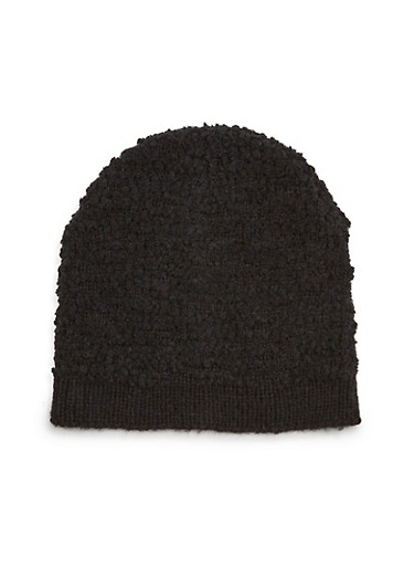 Slouchy Beanie Hat,BLACK,large
