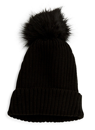 Pom Pom Knit Beanie at Rainbow Shops in Jacksonville, FL | Tuggl