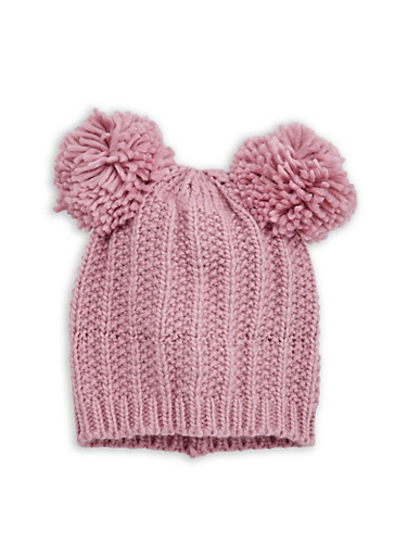 Double Pom Pom Knit Beanie at Rainbow Shops in Jacksonville, FL | Tuggl