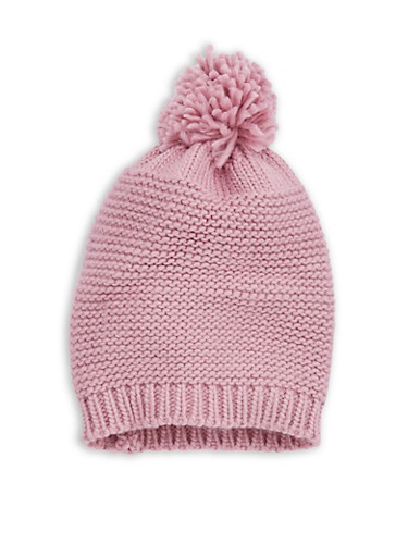 Solid Knit Pom Pom Beanie at Rainbow Shops in Jacksonville, FL | Tuggl