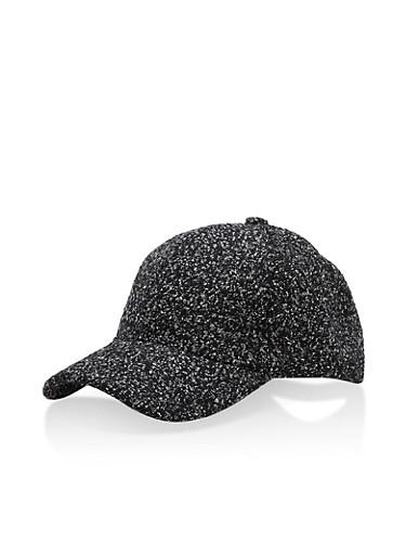 Shimmer Knit Baseball Cap,BLACK,large