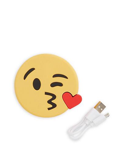 Kiss Emoji Portable Charger,YELLOW,large
