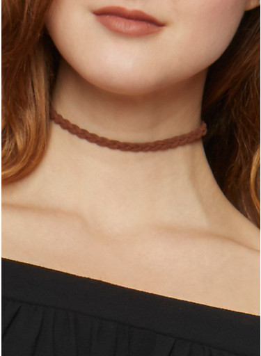 Assorted Tribal Chokers and Stud Earrings,TAN,large