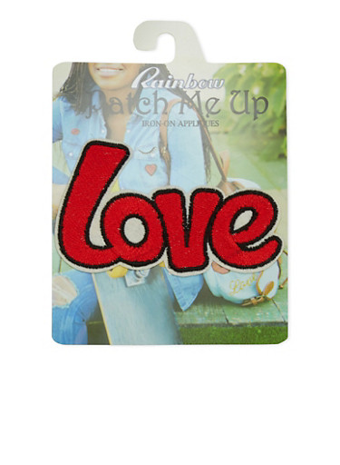 Love Iron-On Patch,MULTI COLOR,large