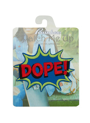 Dope Iron-On Patch,MULTI COLOR,large
