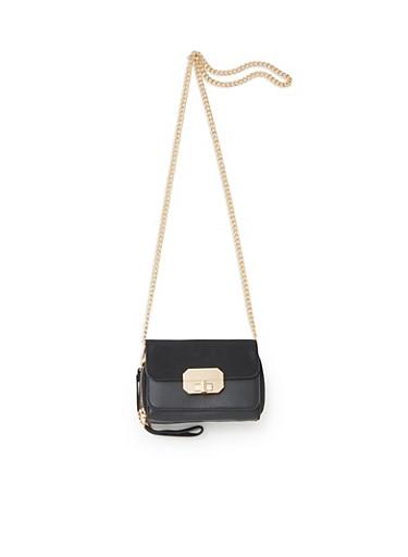Convertible Crossbody Bag,BLACK,large