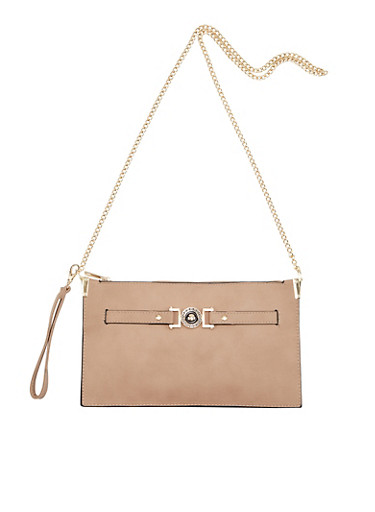 Convertible Crossbody Bag with Removable Chain Shoulder Strap,TAUPE,large