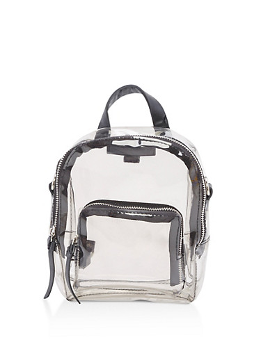 Clear Mini Backpack,CLEAR,large