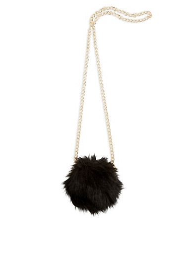 Convertible Round Faux Fur Ring Clutch at Rainbow Shops in Daytona Beach, FL | Tuggl