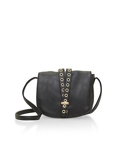 Grommet Saddle Bag,BLACK,large