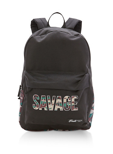 Savage Camo Nylon Backpack,CAMOUFLAGE/BLACK,large