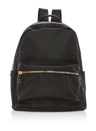 Small Nylon Backpack,BLACK,large